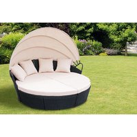 a durable poly rattan Balistyle day bed  select either black, grey or brown and save 79%
