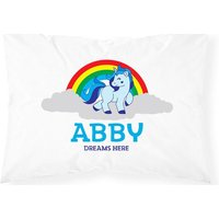£3.99 instead of £13.99 for a personalised kids' unicorn pillowcase from Shop Sharks - save 71% - Shop Gifts