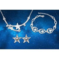 £9 (from Evoked Design) for a shooting star crystal tri jewellery set! - Shooting Gifts