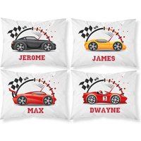 £3.99 instead of £14.99 (from Personalised Gifts Market) for a personalised racing car pillowcase - save 73% - Racing Gifts