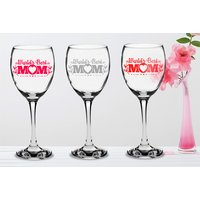£5.99 instead of £11.91 (from CNC Group) for a Mother's Day 'Best Mum' personalised wine glass in a gift box - choose from five colours and save 50% - Wine Glass Gifts