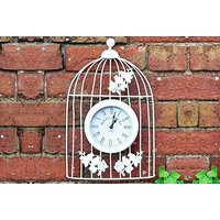 £9.99 instead of £36 (from 365 Online Shopping) for a vintage-style bird cage wall clock - save 72% - Garden Gifts
