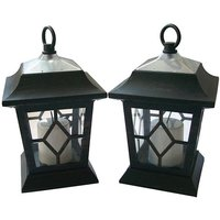 £9.99 instead of £18.99 for two solar powered, hanging lanterns from Ckent Ltd - save up to 47% - Garden Gifts