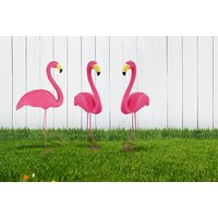 £5.99 instead of £29.99 (from Shop Monk) for a pink flamingo garden ornament, or £10.99 for two flamingos - save up to 80% - Garden Gifts