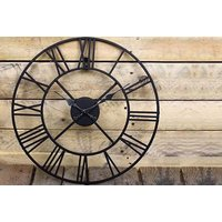 £14.99 instead of £47.99 for a 40cm classic vintage cast iron garden wall clock,  £24.99 for a 60cm diameter clock, £29.99 for 78cm - save up to 69% - Garden Gifts