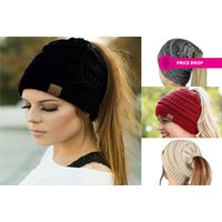 £4.99 instead of £38 (from Black Feather) for a ponytail beanie hat - save 87% - Beanie Gifts