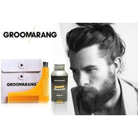 £7 instead of £37.98 for a groomarang beard comb & oil from Forever Cosmetics - save 82%