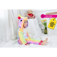 £9.99 instead of £29 for a kids' rainbow unicorn onesie from Innova Brands - save 66% - Onesie Gifts