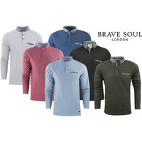 £9.99 instead of £29.99 (from Azure Clothing) for a men's Brave Soul long-sleeve polo - choose from six colours and save 67% - Polo Gifts