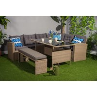 a 10seater rattan outdoor furniture set, or £419 to include a cover  save up to 59%