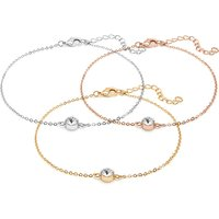 £6 instead of £39 for an anklet made with crystals from swarovski® - choose from three colours from Lily Spencer London - save 8