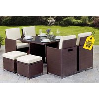 a Napoli ninepiece rattan cube  save 79%