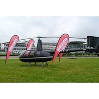 £99 for a helicopter flight to Aintree Races with Prosecco and canapes - Helicopter Gifts