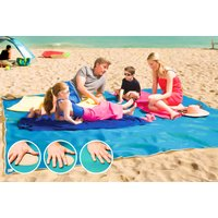 £9.99 instead of £27 (from Charles Oscar) for a magic anti-sand beach blanket - choose from three colours and save 63% - Magic Gifts
