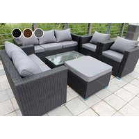 an eightseater rattan garden set, £505 for a rattan garden set with rain cover  choose from three colours and save up to 52%