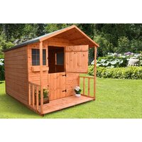 £299 instead of £670 (from Shed Rite) for a 6 x 6ft wooden playhouse, or £329 for a playhouse with a 2ft porch - save up to 55% - Playhouse Gifts
