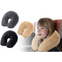 £7.99 instead of £17 (from Eurotrade) for a teddy neck support pillow - choose from three colours and save 53% - Teddy Gifts