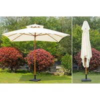 £49 instead of £120 (from Aosom) for a large double tier beige parasol, or £64 for an extra-large parasol - save up to 59% - Beige Gifts