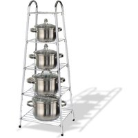 £11.99 instead of £31 (from Zoozio) for a five-tier chrome pan stand - organise your kitchen and save 61% - Chrome Gifts