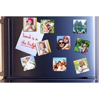 £8.99 instead £55.60 (from Photo Gifts) for a set of 36 50mm x 50mm photo fridge magnets, £9.99 for a set of 36 70mm x 70mm magnets - save up to 84% - Photo Gifts