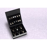 £16 instead of £46 (from Optima Jewellery) for a black jewellery box with six pairs of stud earrings and pendants - save 65% - Jewellery Box Gifts