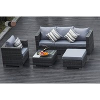 a Monaco fiveseater durable polyrattan garden furniture set, or £345 to include an optional rain cover  choose from three colours and save up to 68%