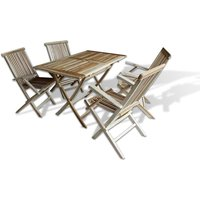 £79 instead of £199.99 (from VidaXL) for a teak three-piece outdoor dining set, or £199 for a five-piece dining set - save up to 60% - Outdoor Gifts