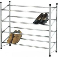 £7.99 instead of £17 (from Zoozio) for a 2 tier extendable chrome shoe rack, or £11.99 for a 4 tier rack - save up to 53% - Chrome Gifts