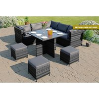 £489 instead of £1,499.99 (from Abreo) for a rattan outdoor sofa dining set - save 67% - Outdoor Gifts