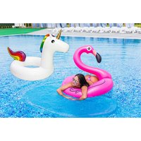 £6.98 instead of £24.99 (from Electronic E-Cig Store) for an inflatable swim ring - choice of flamingo and unicorn and save 72% - Electronic Gifts