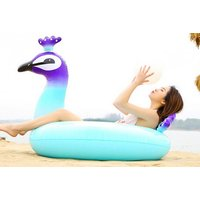 £7.99 instead of £29.99 (from TY Direct) for a 90cm peacock inflatable swim ring or £12.99 for a 120cm inflatable ring - save up to 73% - Peacock Gifts