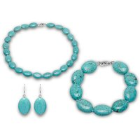 £26 instead of £96.01 (from Lily Spencer London) for a turquoise gemstone jewellery set - save 73% - Turquoise Gifts