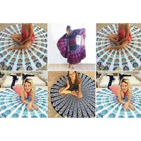 From £9.99 for a bohemian beach mat & shawl available in four colours from Ugoagogo - save up to 75% - Beach Gifts