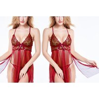 £7.99 instead of £27 (from Fifty Shades of Lust) for a red floral open babydoll and G-string set - save 70% - Babydoll Gifts