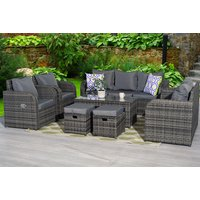 £569 instead of £1299.99 (from Dreams Outdoors) for a nine-seater reclining durable polyrattan set, or £619 for a set with a rain cover - choose from three colours and save up to 56% - Outdoors Gifts