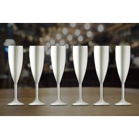 £5.99 instead of £15.86 (from CNC Group) for a pair of white champagne flutes, £10.99 for a set of four flutes or £29.99 for 12 glasses - save up to 62% - Glasses Gifts