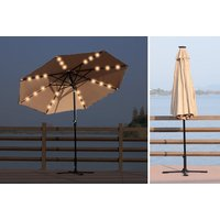 £49 instead of £140 (from MH Star) for a 24 LED solar powered parasol - save 65% - Solar Powered Gifts