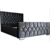 £189 instead of £799.99 for a chesterfield crushed velvet double bed frame from Outgo Ltd - save up to 76% - Frame Gifts