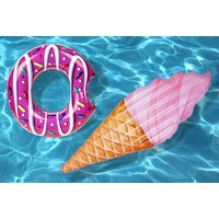 £4 instead of £19.99 (from Vivo Mounts) for an inflatable donut float, £9.99 for an inflatable ice cream float - save up to 80% - Ice Cream Gifts
