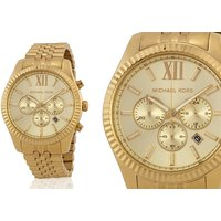 £109 (from Cheap Designer Watches) for a men's Michael Kors gold Lexington chronograph watch - Cheap Gifts