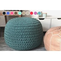 £24.99 instead of £68.99 (from Groundlevel) for a luxury knitted pouffe - choose from 10 colours and save 64% - Knitted Gifts