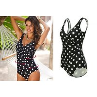 £9 instead of £39.99 (from Blu Fish) for a polka dot one piece swimsuit - choose from four sizes and save 77% - Polka Dot Gifts