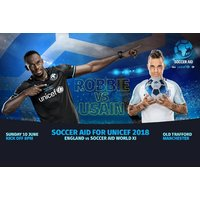 £10 for a child ticket to Soccer Aid for Unicef 2018 at Old Trafford on 10th June, or £14 for an adult ticket – see stars like Robbie Williams, Usain Bolt, and Eric Cantona and save up to 30% - Soccer Gifts