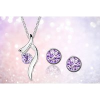 £9 for a crystal swirl earring & necklace set - choose from two colours from Evoked Design - Design Gifts