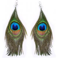 £7.99 instead of £29 (from Your Ideal Gift) for a pair of boho peacock earrings –save 72% - Peacock Gifts