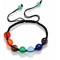 £5.99 instead of £24.99 (from Yepko) for a seven chakra bead adjustable bracelet - save 76% - Bracelet Gifts