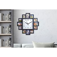 £8.99 instead of £30 (from direct2publik) for a multi aperture photo frame clock - save 70% - Photo Gifts