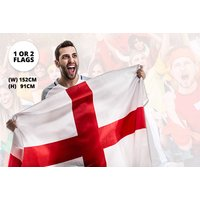 SPIKED 14/06/18 - £3.99 instead of £14.99 (from London ExchainStore) for one large England flag, or £5.99 for two - save up to 80% - England Gifts