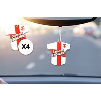 £3.99 instead of £19.99 (from London Exchain Store) for four World Cup England football shirt car air fresheners – save 80% - World Cup Gifts