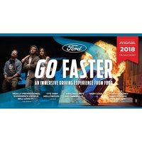 From £58 for a ticket for one person to enjoy the Ford Go Faster immersive driving experience - train to be a movie stunt driver, shoot your scenes and take home your trailer! - Movie Gifts